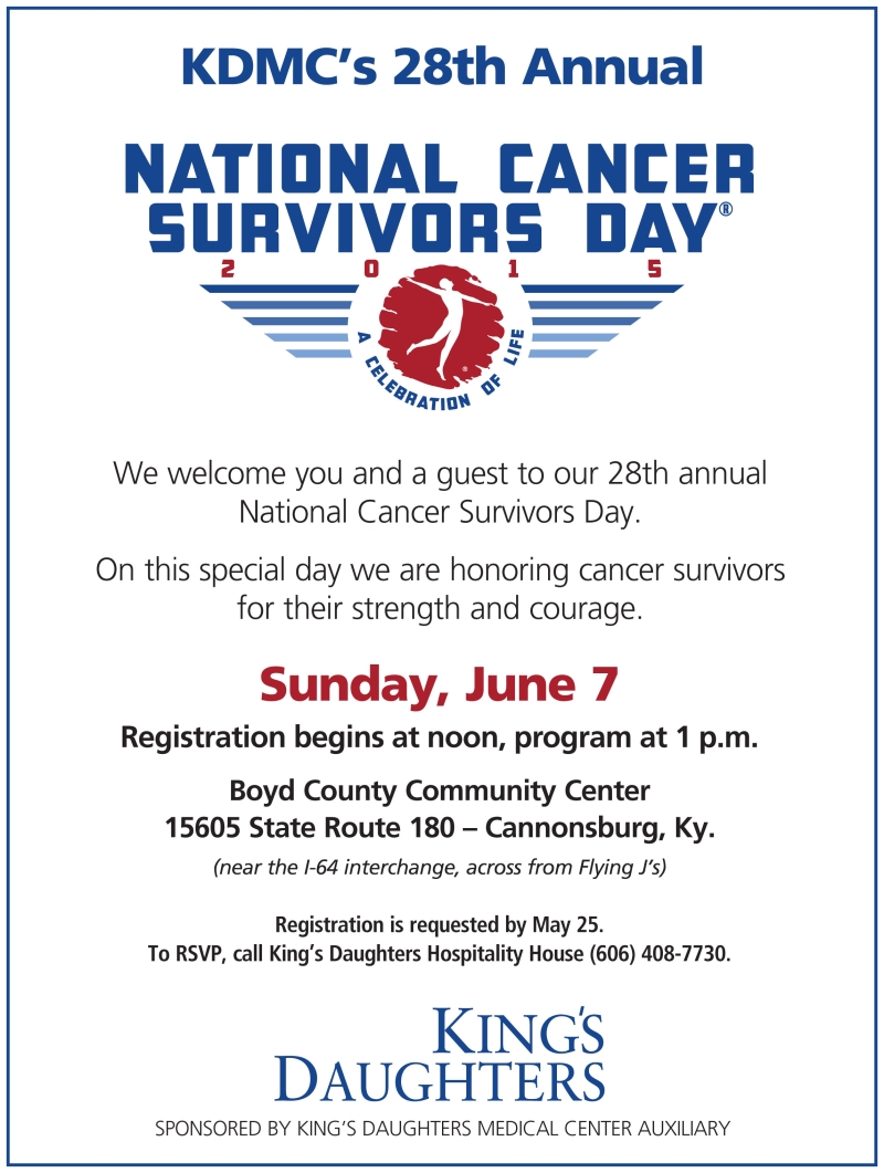 28th Annual National Cancer Survivors Day Flyer